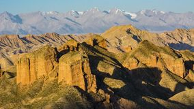 Heroic magical ice ditch Danxia. Dangou Scenic Area of Binggou is an important part of Zhangye Danxia National Geological Park. It is mainly distributed in Sunan royalty free stock images