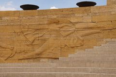 Heroic monumental architecture  of Ataturk Mausoleum Stock Photo