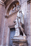 Heroic Romanesque Statue in the Ancient Palazzo Mattei di Giove Courtyar Stock Photography