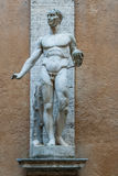 Heroic Romanesque Statue in the Ancient Palazzo Mattei di Giove Courtyar Stock Images