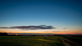 Summer evening above the fields in south france Stock Photography