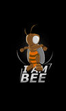 Heroico - eu sou uma abelha, abelha super Fotografia de Stock