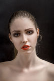 Heroine makeup Royalty Free Stock Photo