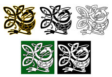 Heron bird in celtic ornament vector illustration