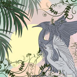 Heron birds vector illustration Stock Photos