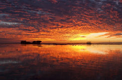 Heron island sunset. This image was taken with canon 20D and 28 - 80 mm lens, tripod royalty free stock photo