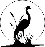Heron silhouette Stock Images