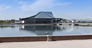A Heron and the Tempe Center for the Arts Royalty Free Stock Image