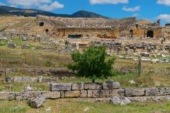 Heropolis blisko Pamukkale obrazy royalty free