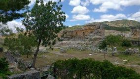 Heropolis near Pamukkale. View of the ruins of Heropolis near Pamukkale stock footage