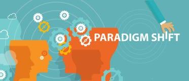 Heroverweegt het nieuwe concept die van de paradigmaverschuiving ideewaarneming veranderen royalty-vrije illustratie