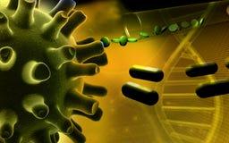 Herpes Simplex Virus. Digital illustration of Herpes Simplex Virus Royalty Free Stock Image