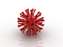 Herpes VIRUS. Digital illustration of herpes VIRUS in 3d on digital background royalty free illustration