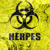 Herpes virus concept background Stock Photography
