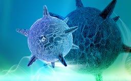 Herpesvirus royalty-vrije illustratie