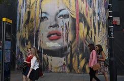 Herr Brainwashs Street Kunstausstellung Lizenzfreies Stockbild