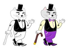 Herr Cat Stockfoto