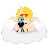 Herr Crazy Cupid siktar! Royaltyfria Bilder