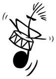 Herr Drums lizenzfreie abbildung