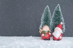 Herr & fru claus santa arkivbild