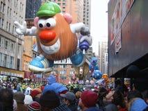 Herr head mr potatis för ballong Manhattan NY Royaltyfri Bild