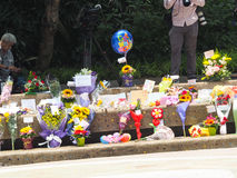 Herr Lee Kuan Yew (16 09 1923-23 03 2015) Arkivfoto