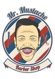 Herr Mustache Barber Shop lizenzfreie stockbilder