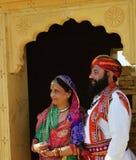 Herr Mustaschökenfestival Jaisalmer Royaltyfria Foton