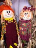 Herr och fru Scarecrow fotografering för bildbyråer
