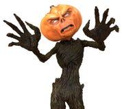 Herr Pumpkin lokalisiert auf weißem Hintergrund Abbildung 3D Stock Abbildung