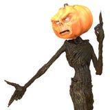 Herr Pumpkin lokalisiert auf weißem Hintergrund Abbildung 3D Vektor Abbildung