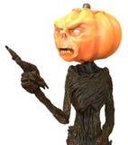 Herr Pumpkin lokalisiert auf weißem Hintergrund Abbildung 3D Lizenzfreie Abbildung
