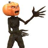 Herr Pumpkin som isoleras på vit bakgrund illustration 3d Vektor Illustrationer