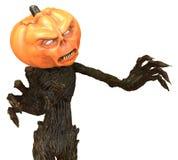 Herr Pumpkin som isoleras på vit bakgrund illustration 3d Royaltyfri Illustrationer