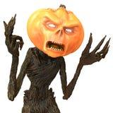 Herr Pumpkin som isoleras på vit bakgrund illustration 3d Stock Illustrationer