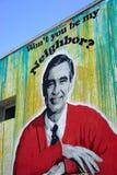 Herr Rogers - Straßenkunst Stockfoto