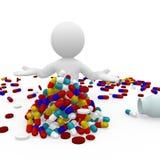 Herr Smart Guy, das Pillen einnimmt stock abbildung