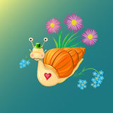 Herr Snail vektor illustrationer