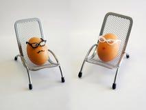 Herr und Frau Egg Stockfoto