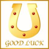 Herradura del oro para la buena suerte, ejemplo del vector Fotografía de archivo libre de regalías