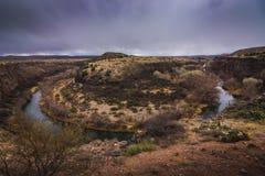 Herradura del río de Verde Foto de archivo libre de regalías