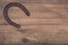 Herradura oxidada vieja de la buena suerte del vintage Imagen de archivo libre de regalías