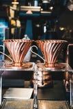 Herramienta de cobre del café del diff Fotos de archivo libres de regalías