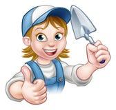Herramienta de Construction Worker Trowel del albañil del constructor libre illustration