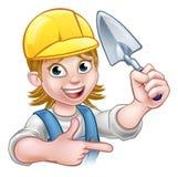 Herramienta de Construction Worker Trowel del albañil del constructor ilustración del vector