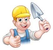 Herramienta de Construction Worker Trowel del albañil del constructor Foto de archivo libre de regalías
