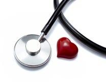 Herramienta de la medicina del cuidado médico del corazón del estetoscopio Imágenes de archivo libres de regalías