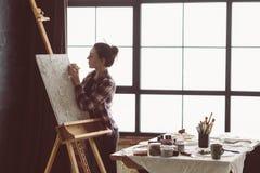Herramienta de la mujer de la inspiración de la concentración de las ilustraciones fotos de archivo libres de regalías