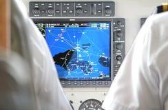 Herramienta de la navegación en el avión de la carlinga Fotos de archivo libres de regalías