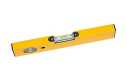 Herramienta de la precisión: un nivel amarillo fotografía de archivo